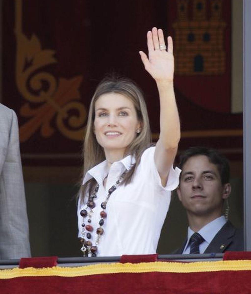 Doña Letizia acapara miradas y aplausos en Alcázar de San Juan