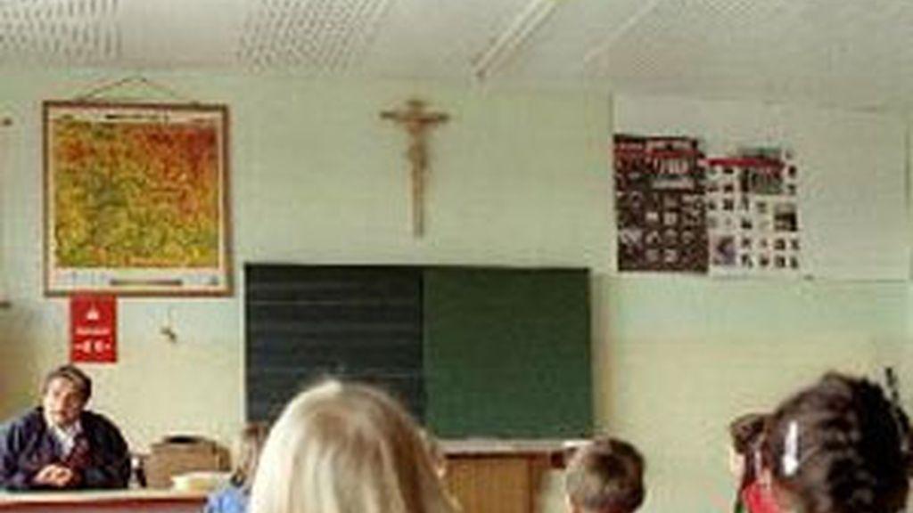 Crucifijos en las escuelas españolas. FOTO: Reuters.