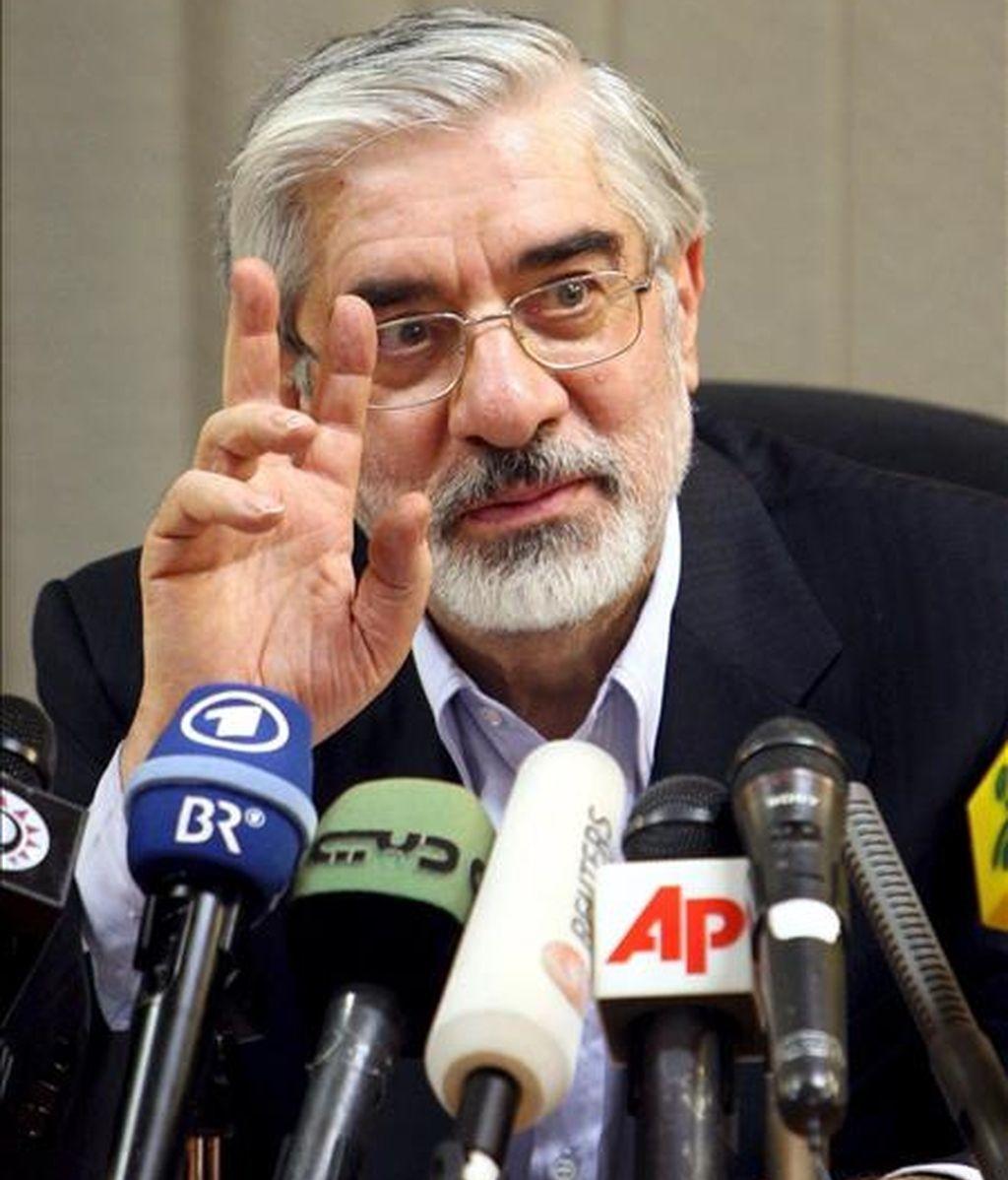 El principal candidato derrotado en las elecciones presidenciales iraníes, Mir Husein Musavi. EFE/Archivo