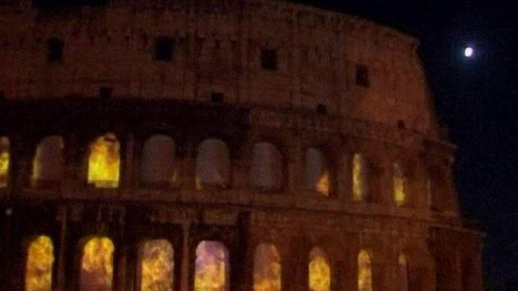 El Coliseo en llamas