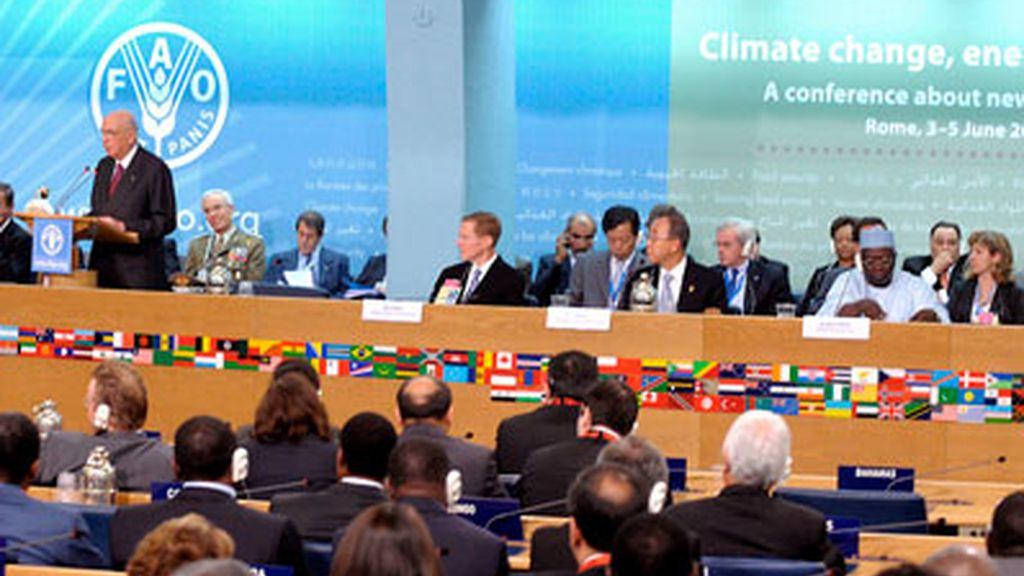 El presidente italiano, Giorgio Napolitano, interviene en la Cumbre de la ONU para la Agricultura y la Alimentación.