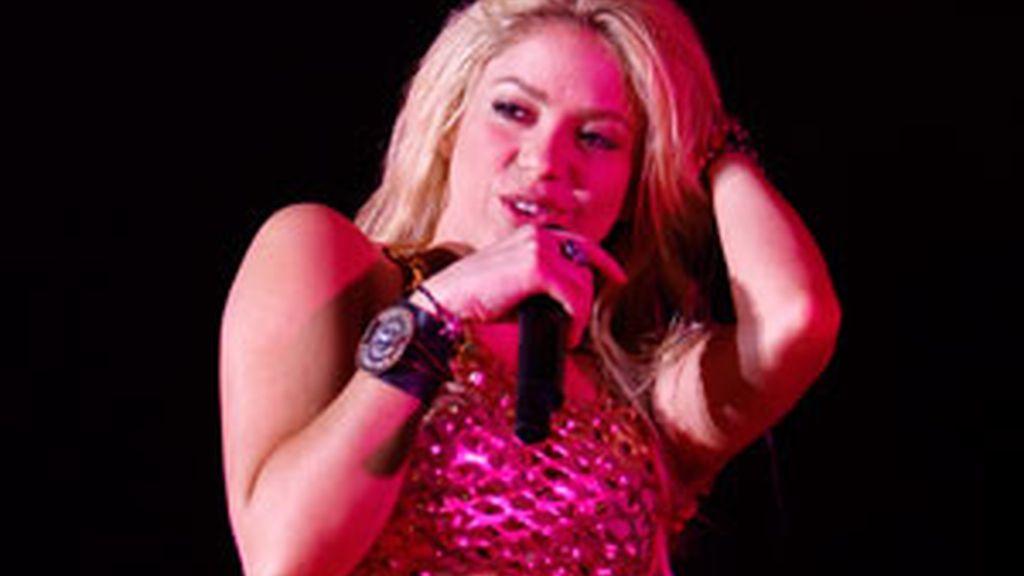 Shakira, durante uno de sus conciertos. Foto: Gtres