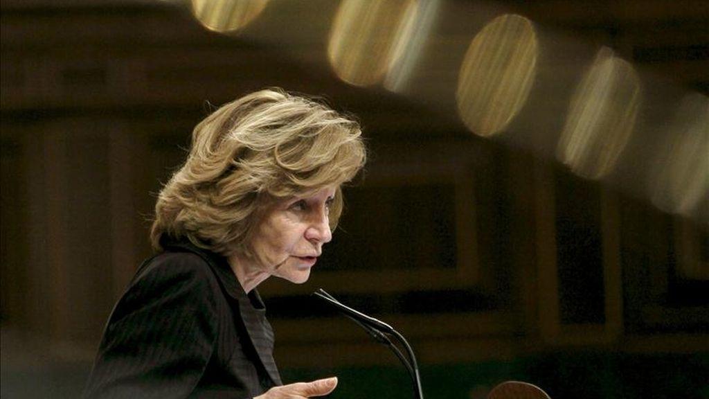 La vicepresidenta económica, Elena Salgado. EFE/Archivo