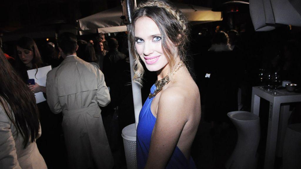 Vanessa Romero, con un vestido de inspirción griega de Michael Kors
