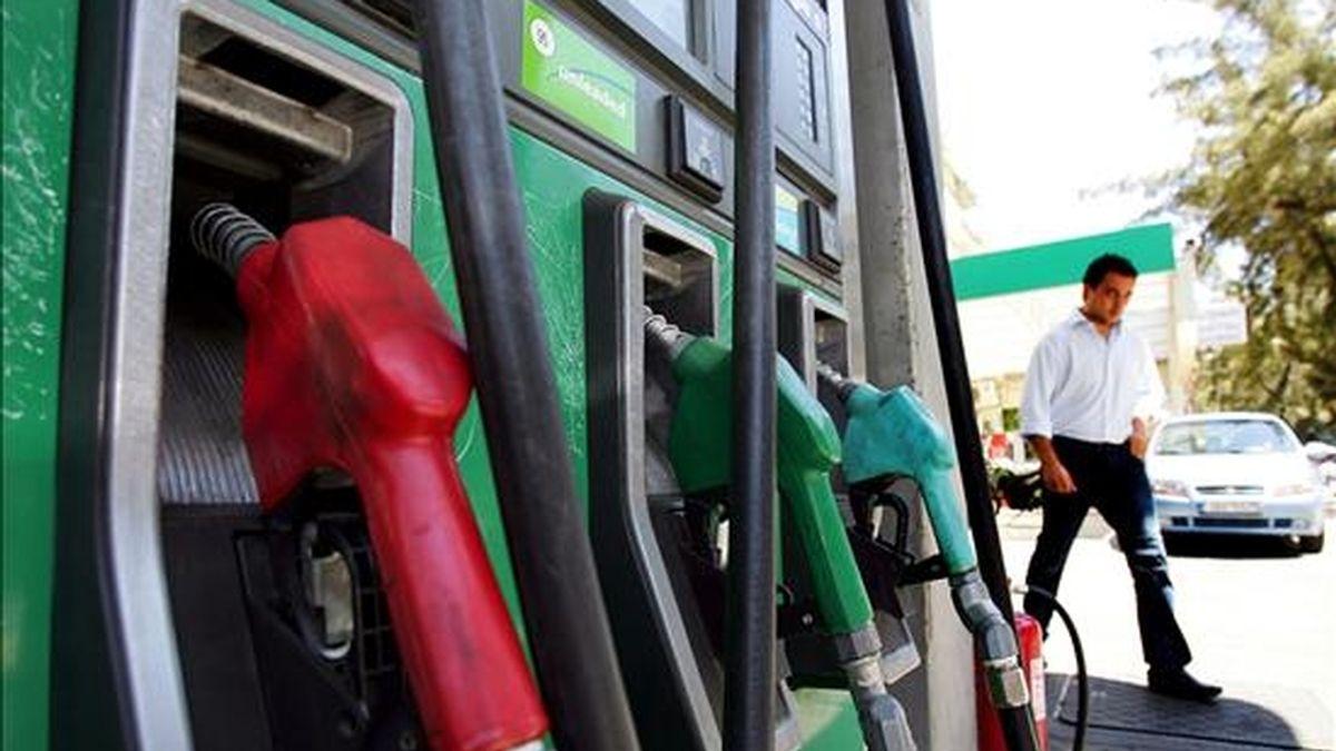 Surtidor de combustibles en una gasolinera. EFE/Archivo