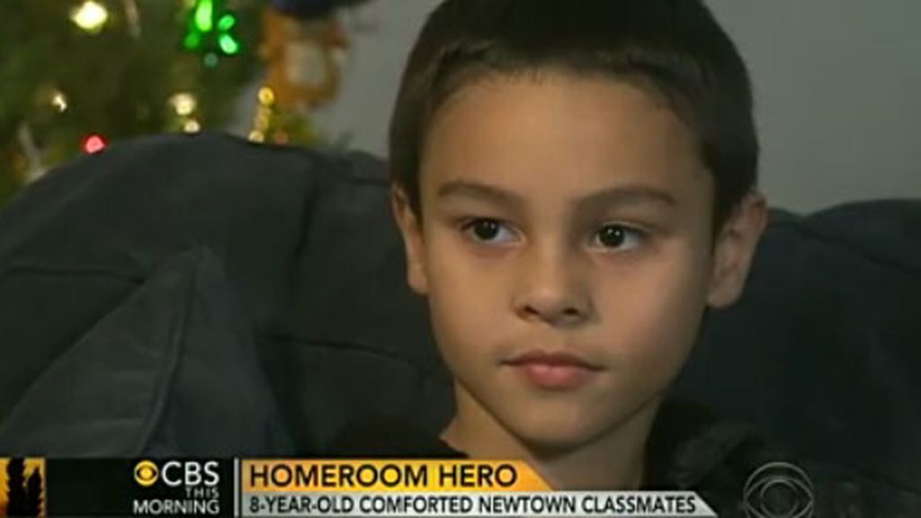 Luke santana, niño valiente masacre escuela Newtown Connecticut
