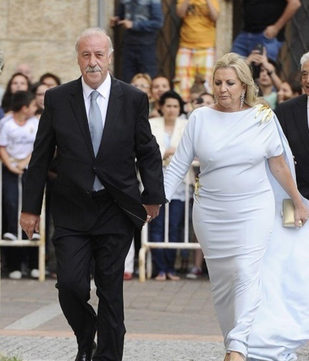 Vicente del Bosque y su mujer