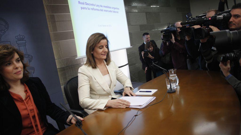 Soraya Sáenz de Santamaría y Fátima Bañez