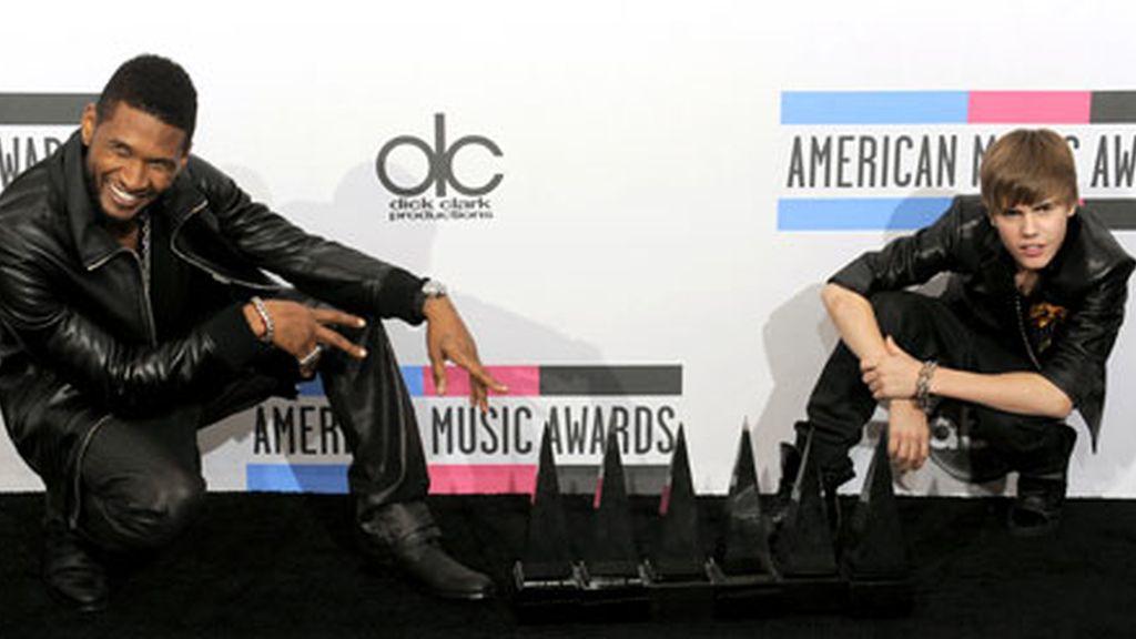 Justin Bieber con Usher