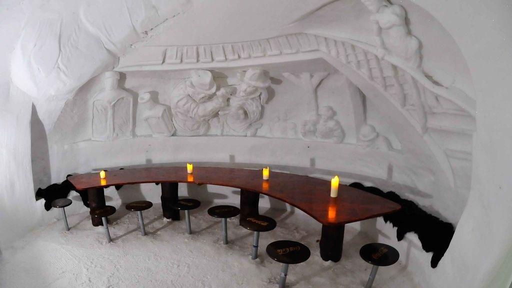Piscina privada, sauna, restaurante... ¡dentro de un iglú!