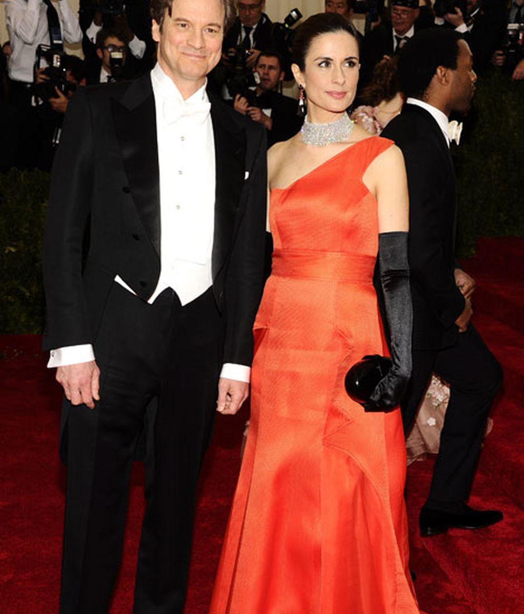 Colin Firth y su esposa Livia Giuggioli