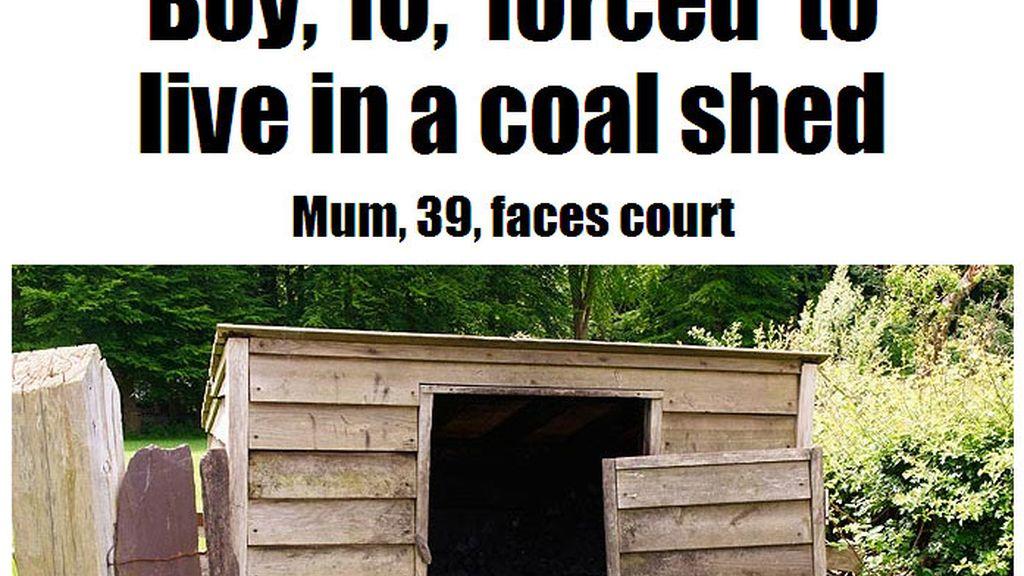 Una madre británica obliga a su hijo de 10 años a vivir en una carbonera