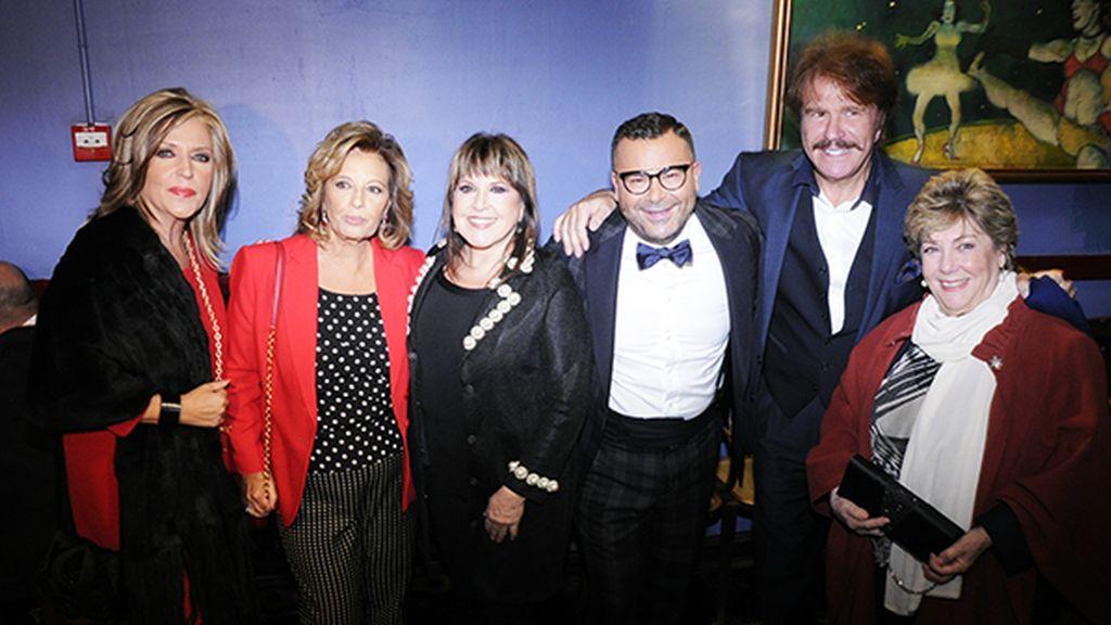 """Lydia Lozano, María Teresa Campos, Loles León, Jorge Javier Vázquez, """"Bigote"""" Arrocet y Paloma Gómez Borrero"""