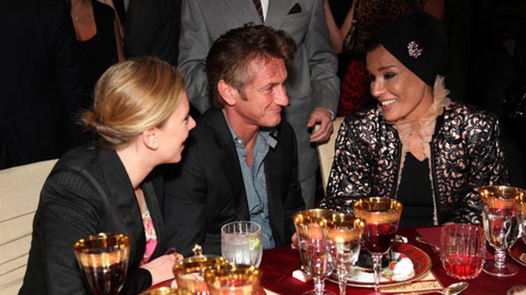 Con Scarlett Johansson y Sean Penn