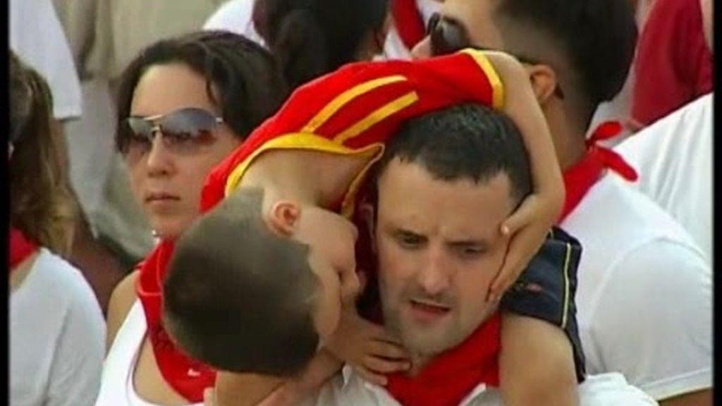 Doble celebración en Pamplona