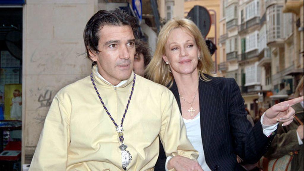 Melanie Griffith y Antonio Banderas, fieles a la Semana Santa
