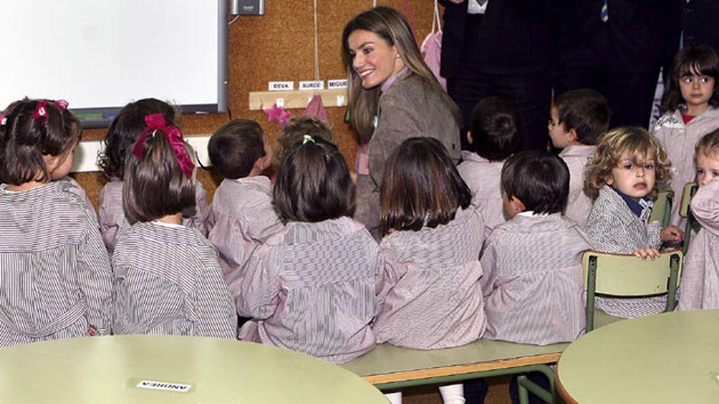 En el colegio S. Félix de Candas