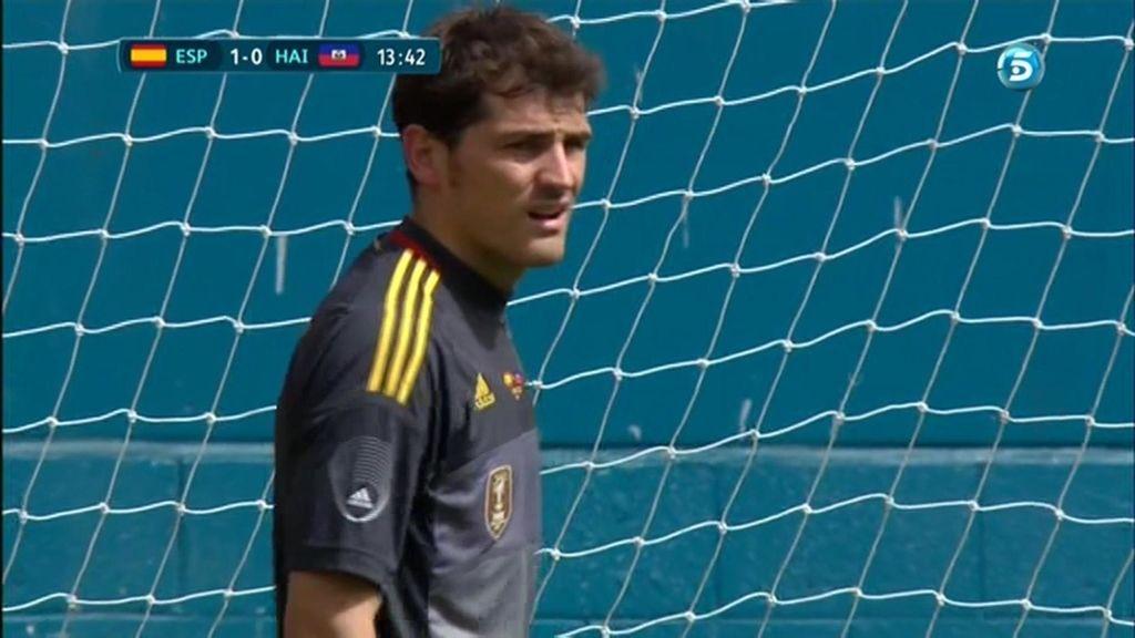 Casillas jugó los primeros 45 minutos ante Haití