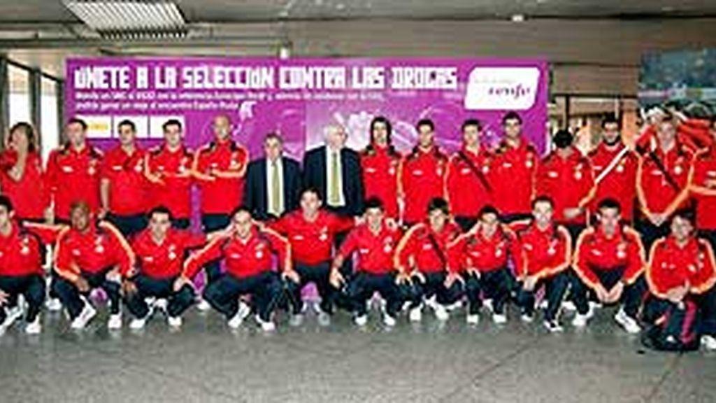 Último entrenamiento de la selección antes de marcharse a Huelva. Vídeo: Atlas.