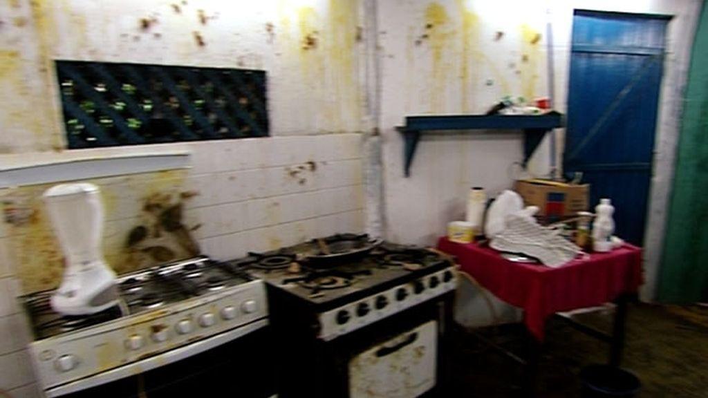 La cocina era un auténtico desastre