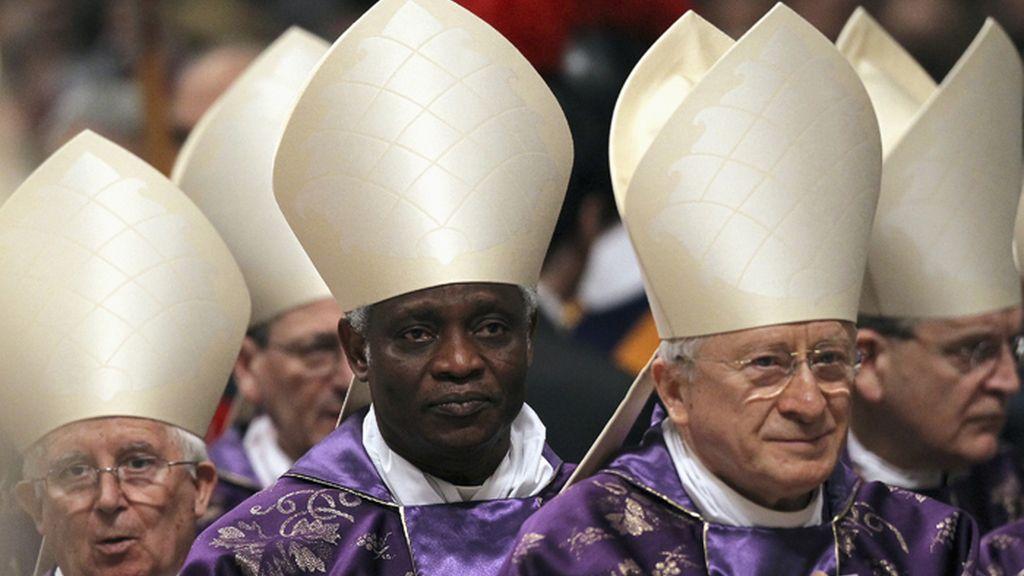 El cardenal ghanes, Peter Turkson, durante la misa del Miércoles de Ceniza en el Vaticano