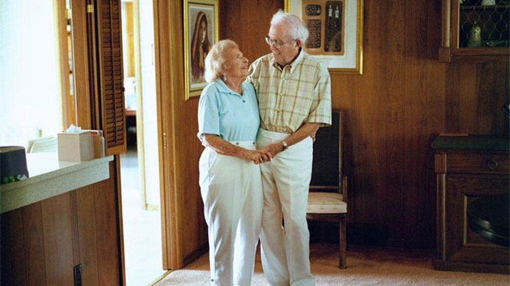 Los amantes que han pasado la vida juntos