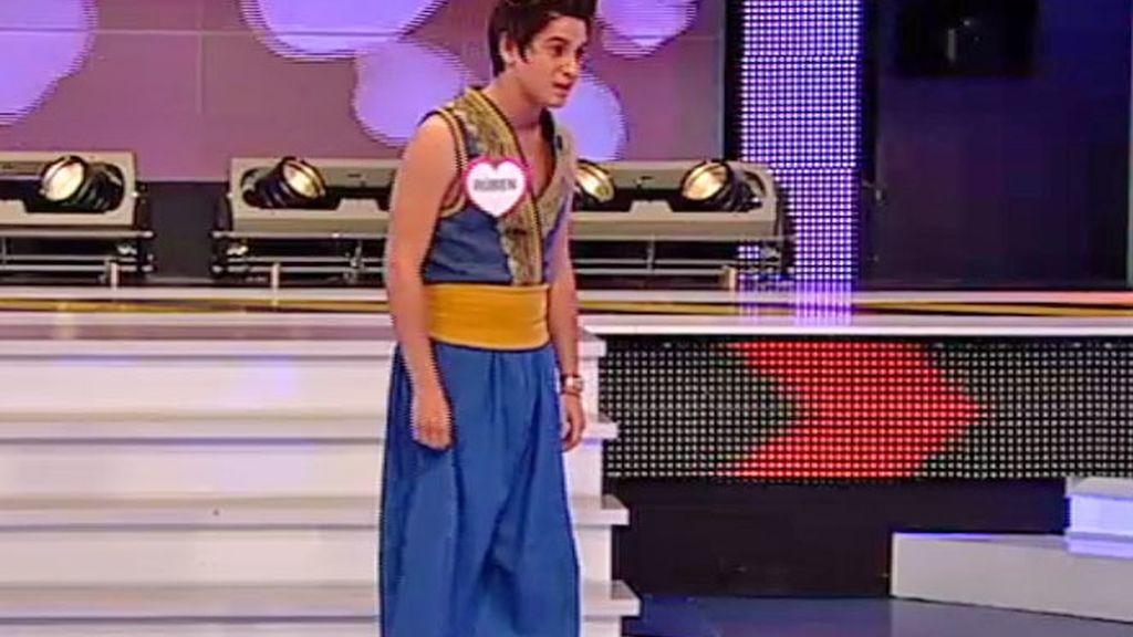Rubén vestido de Aladín