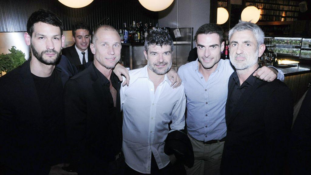 Ernesto, Peter Priede, Nacho Guerreros, Francisco Caballero y Fernando Alonso