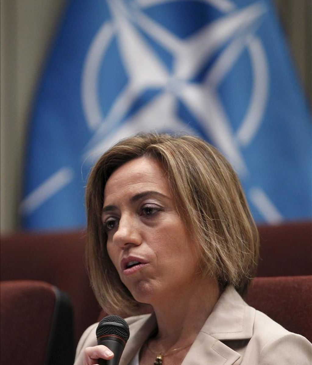 La ministra de Defensa, Carme Chacón. EFE/Archivo