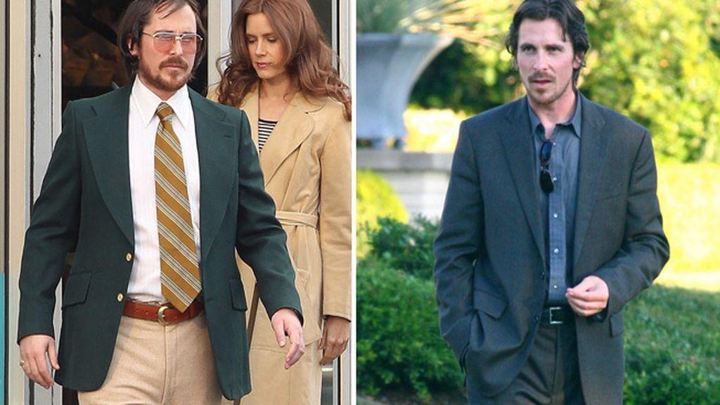 Christian Bale aparece gordo, calvo y envejecido
