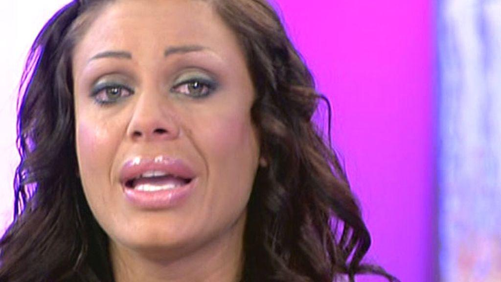 Tatiana Delgado rompe a llorar en 'Sálvame'