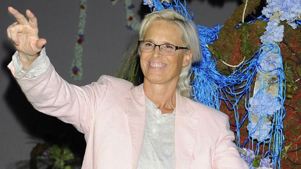 Lucía Dominguín en el desfile de Francis Montesinos