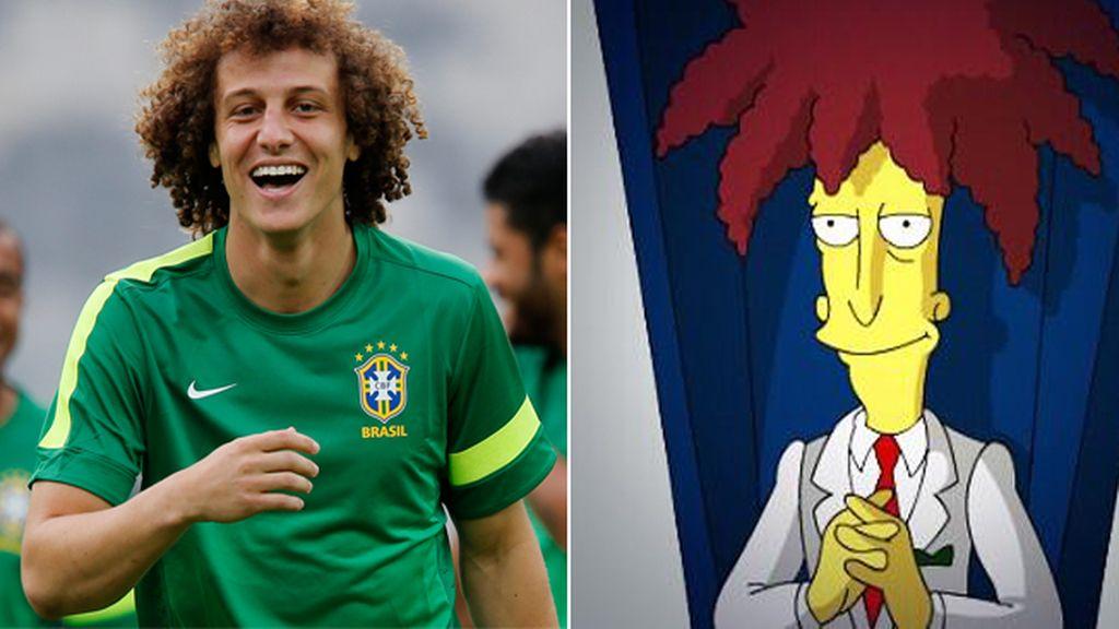 El jugador brasileño David Luiz y 'Sideshow Bob' de los Simpsons