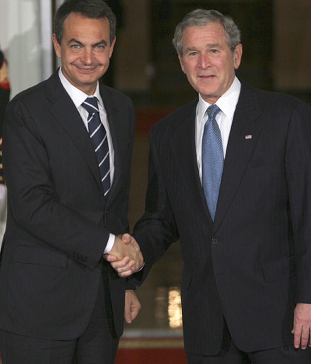 2008: Zapatero, recibido por Bush en la Casa Blanca