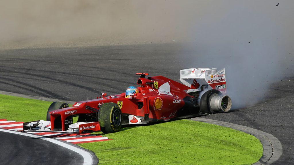 Accidente de Alonso en el Gran Premio de Japón