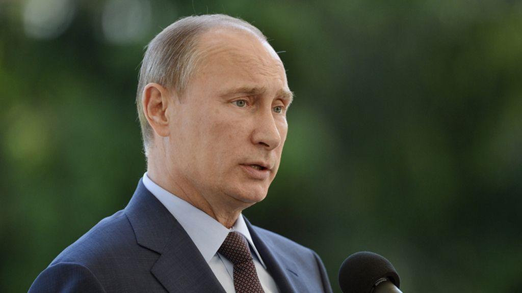 Vládimir Putin durante la conferencia de prensa con el presidente de Finlandia
