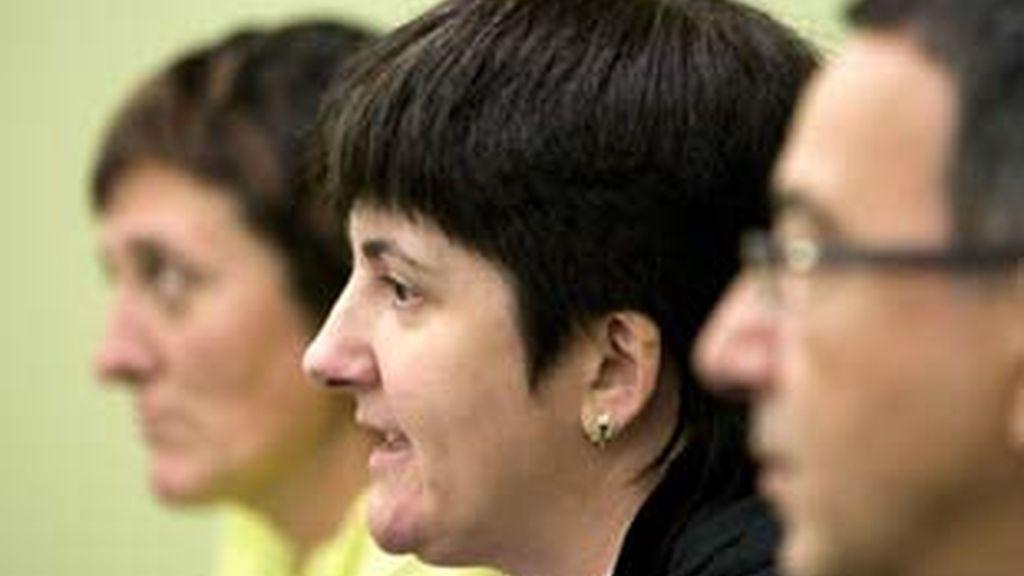 La portavoz de EHAK en el Parlamento Vasco, Nekane Erauskin. Foto: EFE