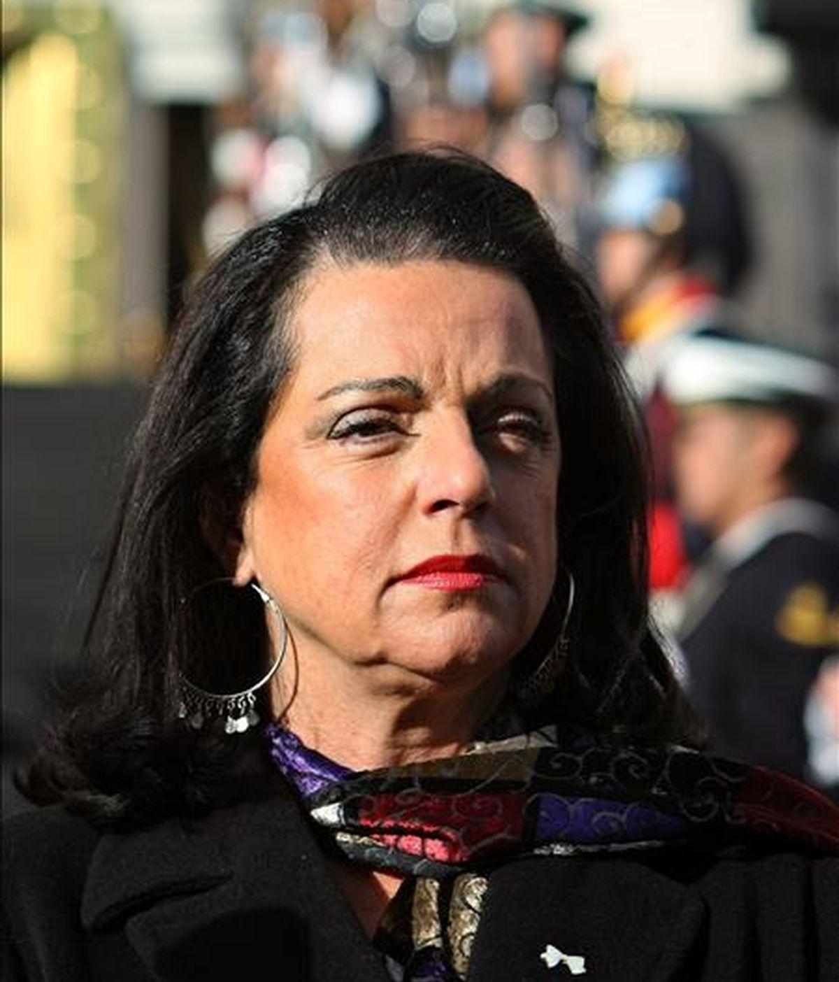 """La ministra de Defensa de Argentina, Nilda Garré, comentó que el cierre de la oficina de la misión militar de Estados Unidos fue """"algo de fuerte sentido simbólico"""". EFE/Archivo"""