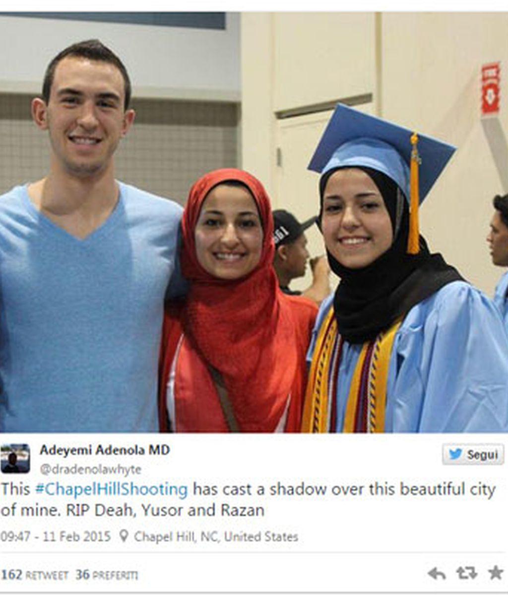 Los tres estudiantes musulmanes asesinados en EEUU