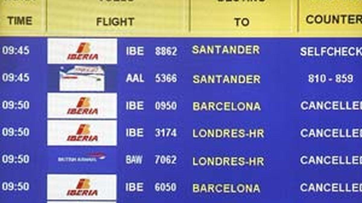 Iberia pide a los viajeros que se queden en sus casas. Vídeo: Informativos Telecinco