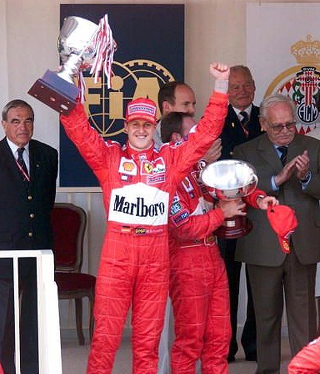 Schumacher celebra la última victoria de Ferrari en Mónaco. FOTO: Archivo.
