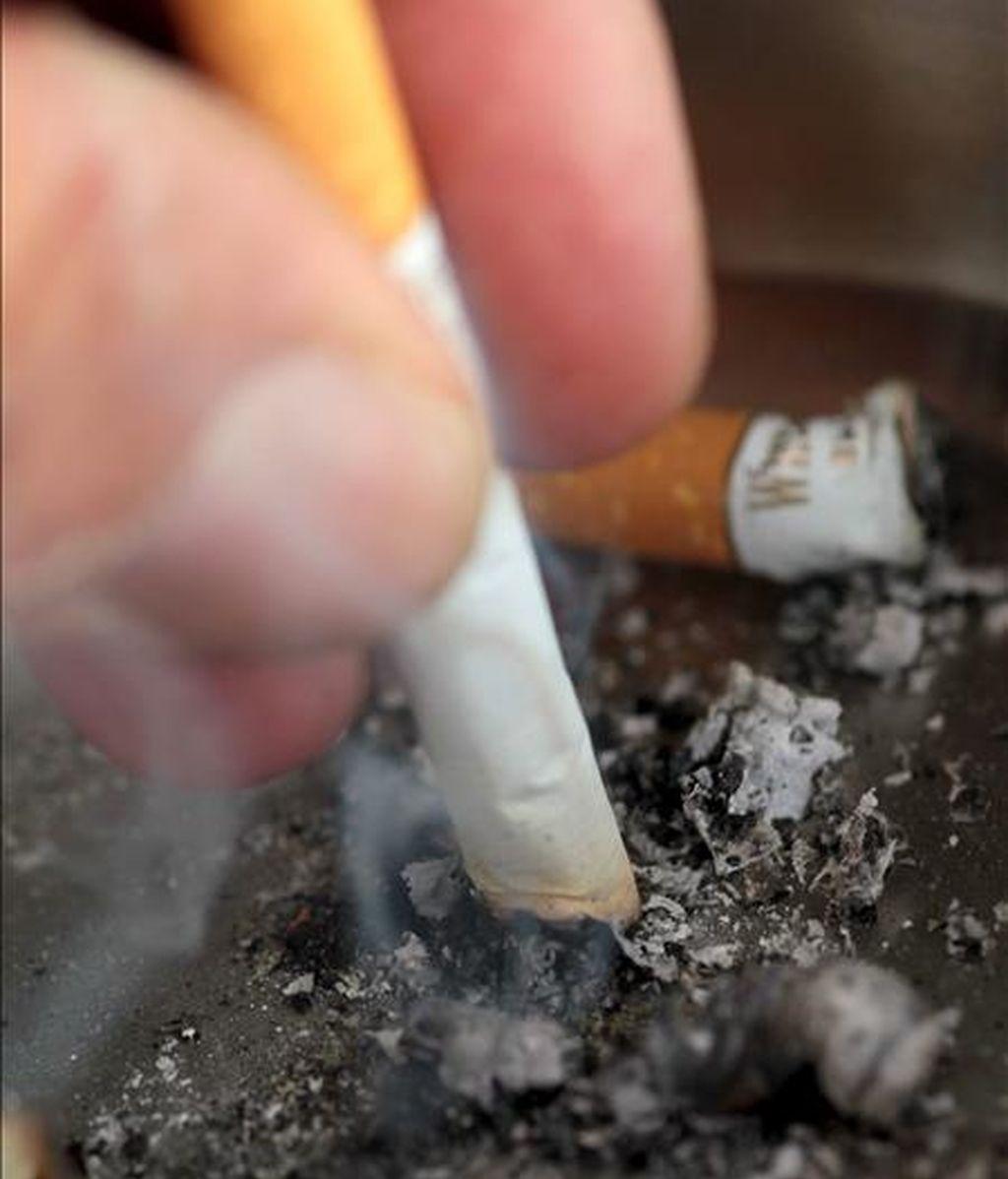Un hombre apaga su cigarrillo. EFE/Archivo