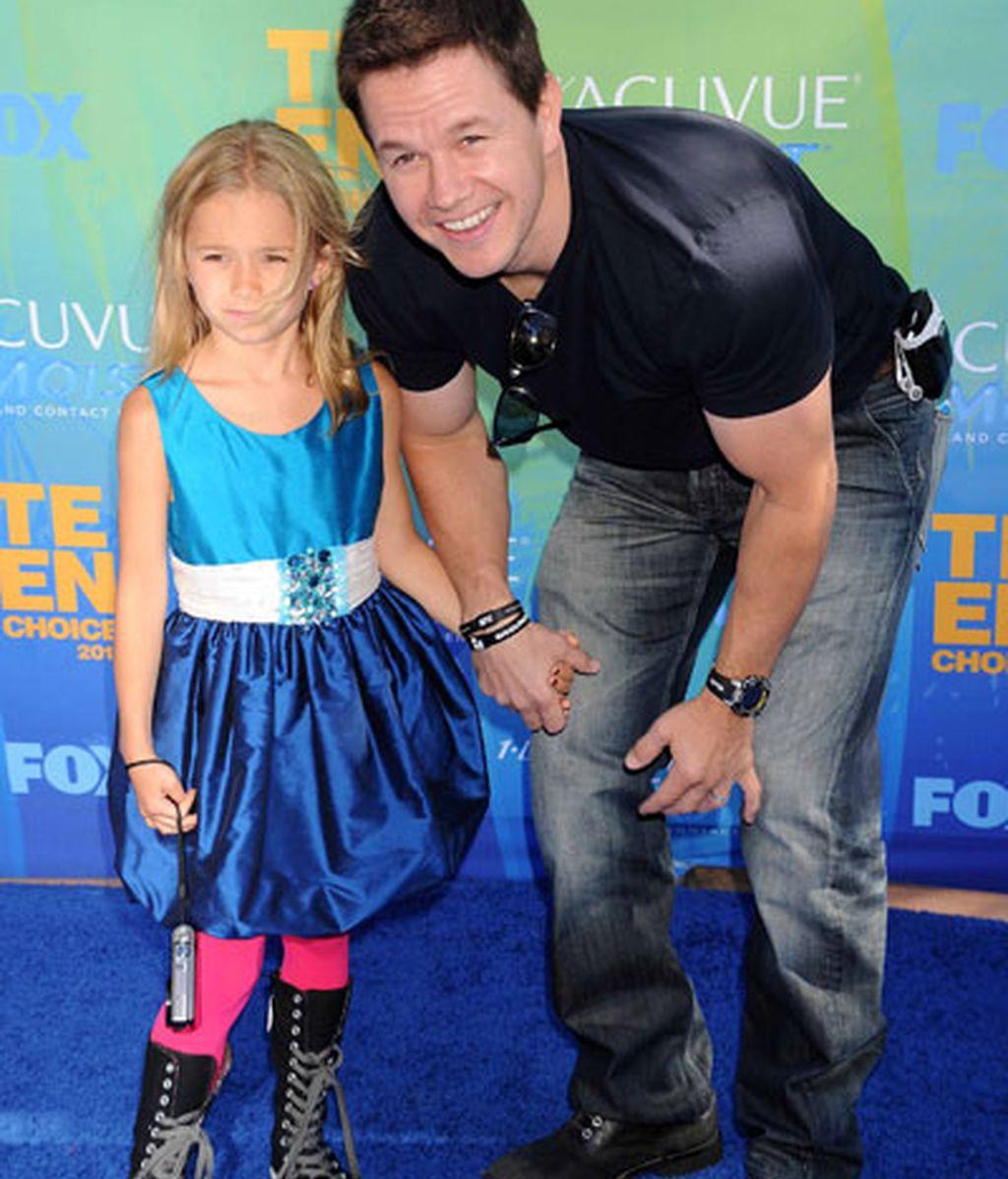 Mark Wahlberg con su hija Ella