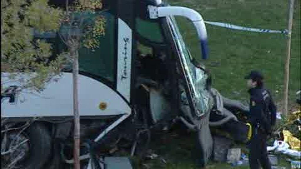 Accidente de autobús en Zaragoza