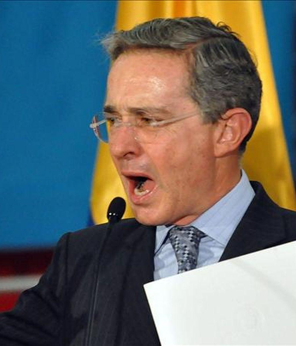 """El mandatario colombiano subrayó que """"el diálogo es con la democracia. El diálogo no es con los terroristas"""". EFE/Archivo"""