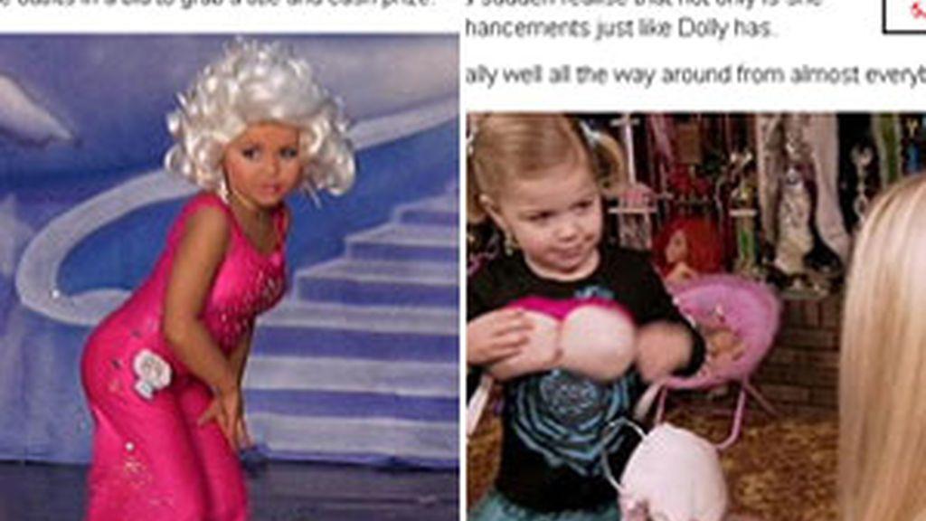 Maddy se pone rellenos en los pechos para imitar a Dolly Parton. Vídeo: Sky News