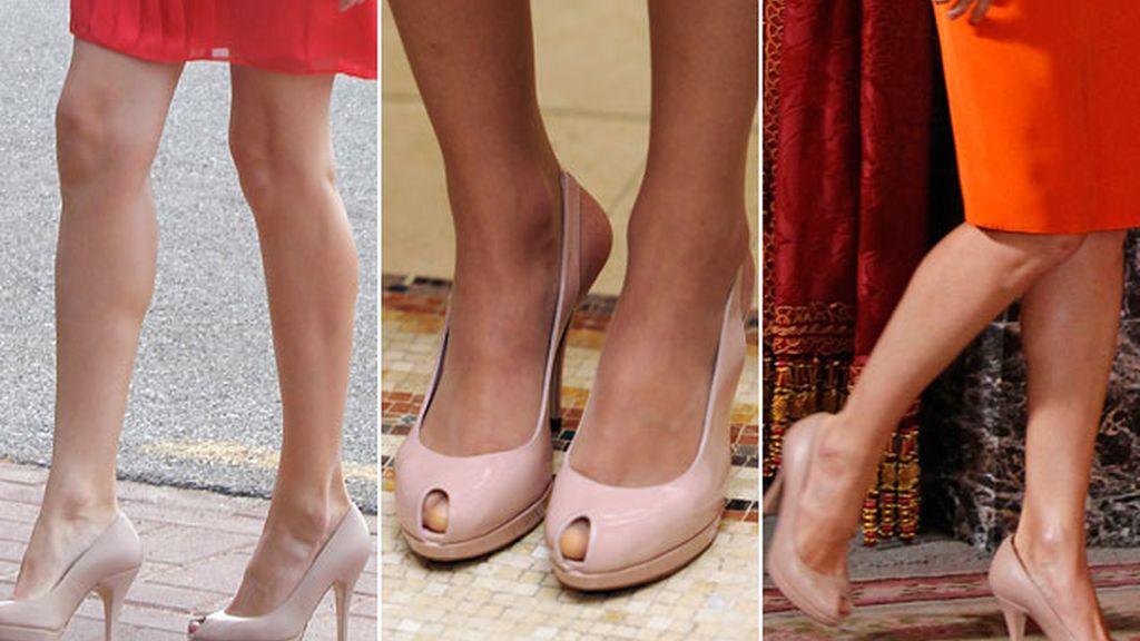 Zapatos de tacón rosa 'palo'