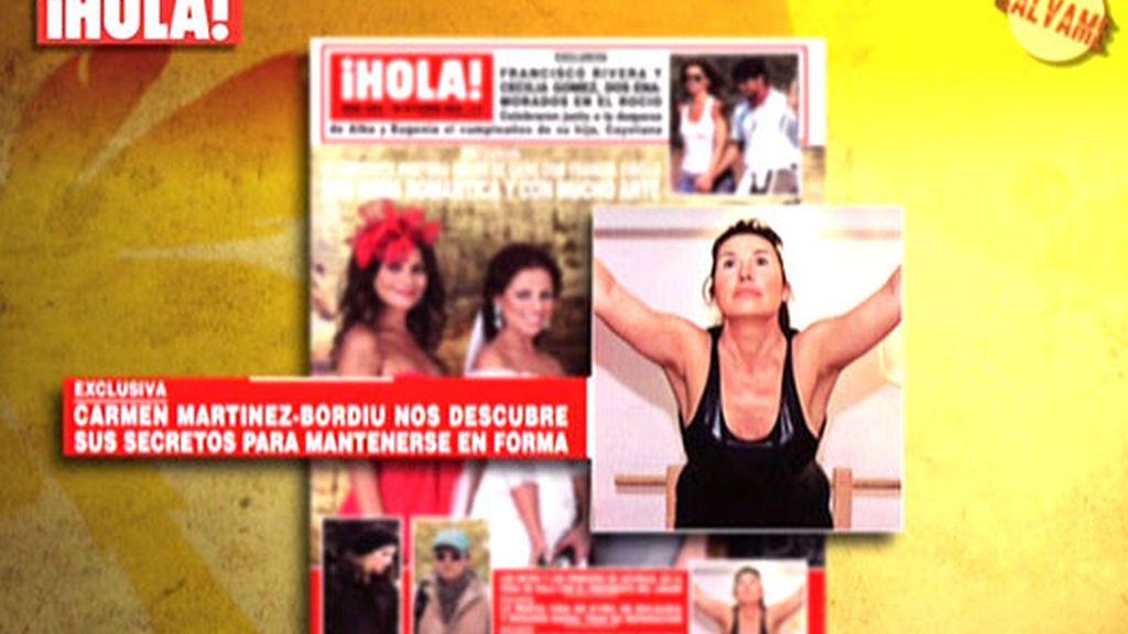 Carmen Martínez Bordiú presume de elasticidad