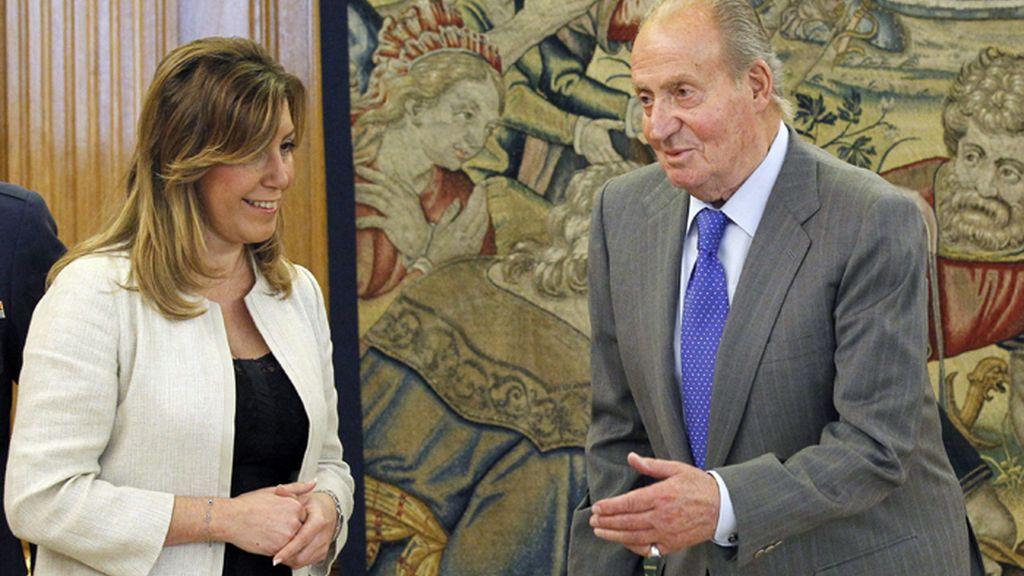 El Rey recibe en La Zarzuela a Susana Díaz