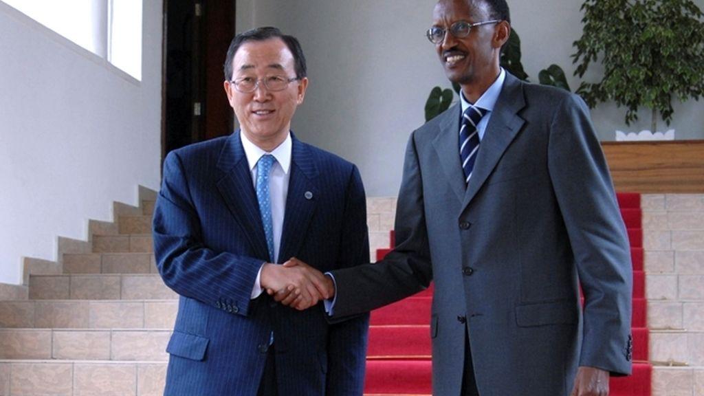Ban Ki-Moon y Kagame